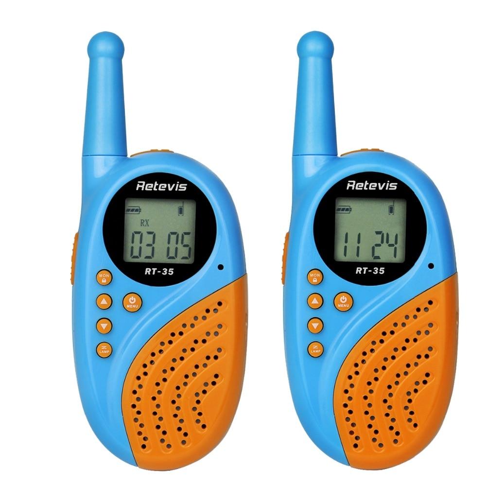 1 pair Retevis RT 35 Walkie Talkie Kids Radio 22CH UHF 462 5625 467 7250Mhz Frequency