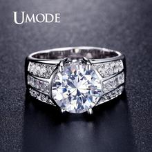 UMODE Big Cubic Zirconia Engagement Rings for Women Fashion Promise Rings Statement Wedding Band Luxury Vintage Jewelry UR0331 цена и фото