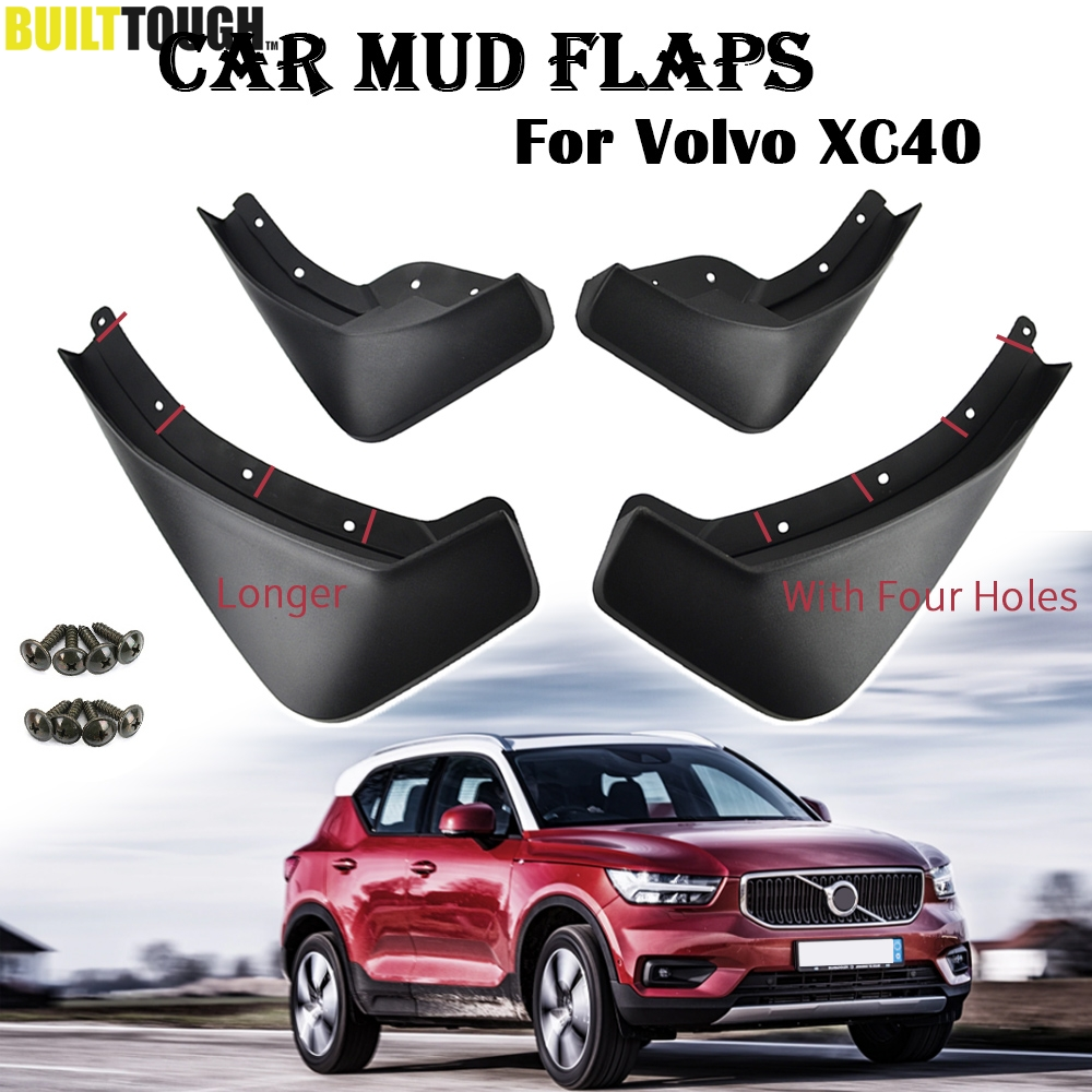 4Pcs Car Mud Flaps Mudguard for Volvo C30 2010-2016 Fender Splash Guards Black