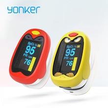 Yonker для новорожденных младенцев палец Пульсоксиметр От 1 до 12 лет применить младенческой Дети Детский Пульсоксиметр детей де Dedo oximetro