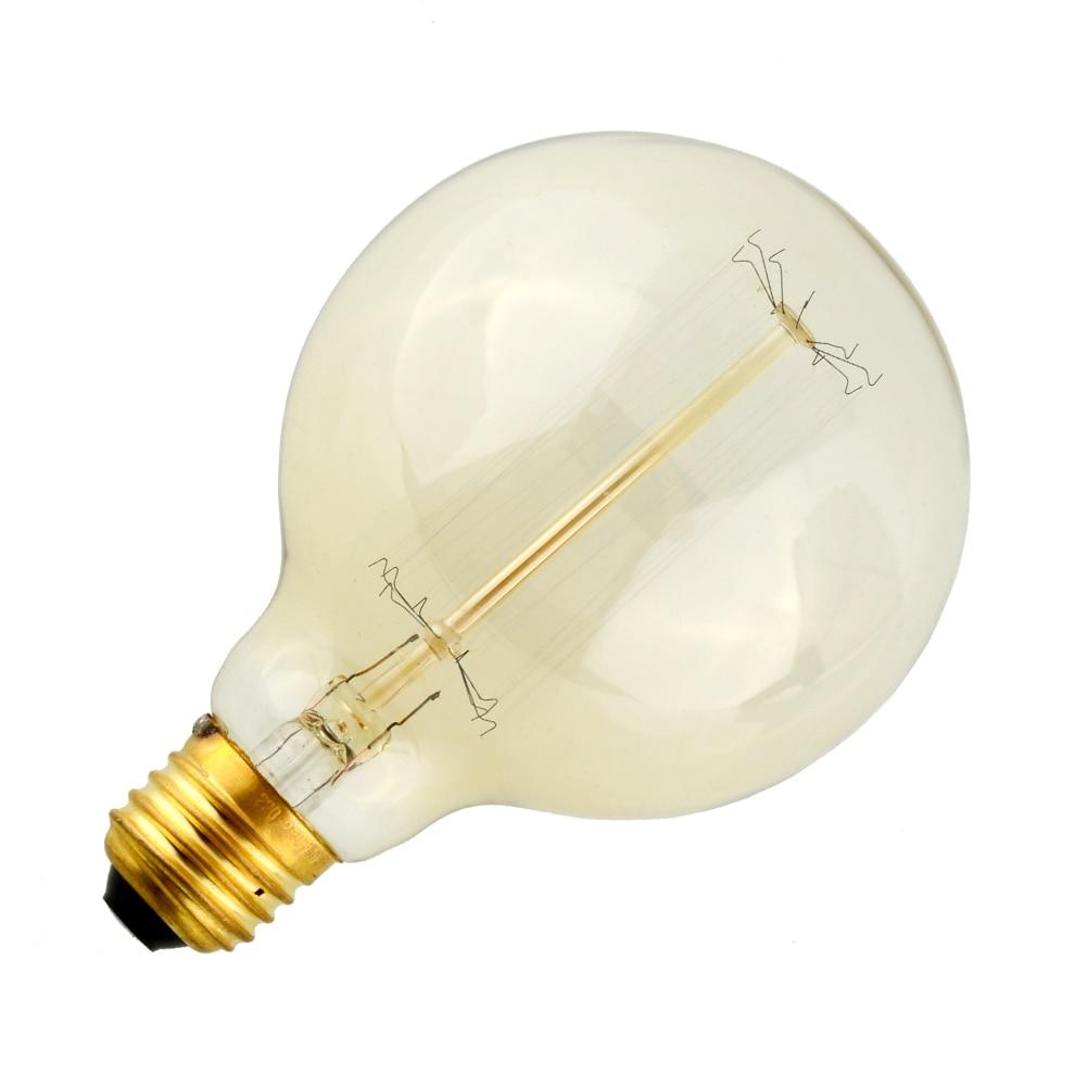 E27 40w Vintage Retro Filament Edison Tungsten Light Bulb: Vintage Vetro Tungsten Filament E27 Globe Edison Light