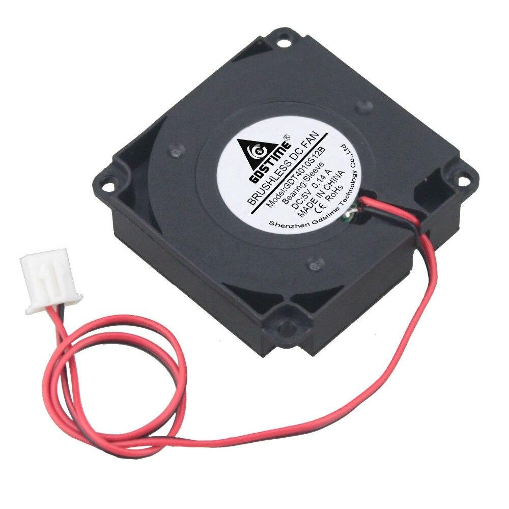 2PCS Gdstime 40mmx40mmx10mm 4cm DC 5V Mini Turbo Centrifugal Blower Cooling Fan 40mm 4010 3D Printer Cooler 40x40x10mm цена
