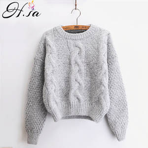 Hsa Women Warm Pullover Pull Jumpers Knitted Sweaters