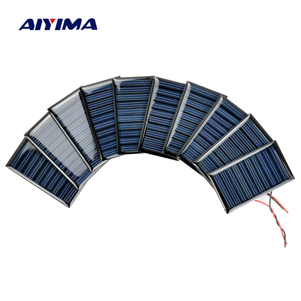 Aiyima 10pcs Solar Panels Solar Battery Power Charging