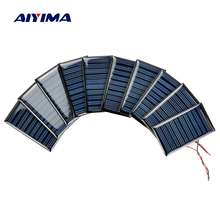 AIYIMA 10Pcs Solar Panels Solar Battery Power Charging Solars DIY Electric Toy Materials Photovolta Charger 5V30mA 53x30MM