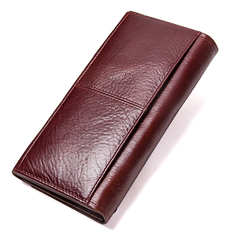 Contact's Genuine Leather Women Long Purse Female Clutches Money Wallets Brand Design Handbag For Cell Phone Card Holder Wallet #5