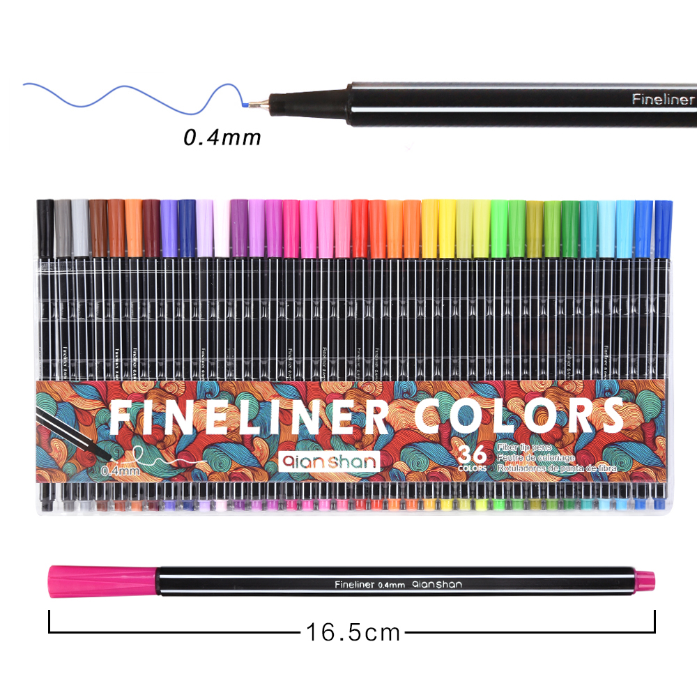 0.4mm Fineliner Pens 24/36 Colored Marker Pen School Stationery Water Based Ink Drawing Sketch For Kids Art Children Marker Pens touchnew 60 colors artist dual head sketch markers for manga marker school drawing marker pen design supplies 5type