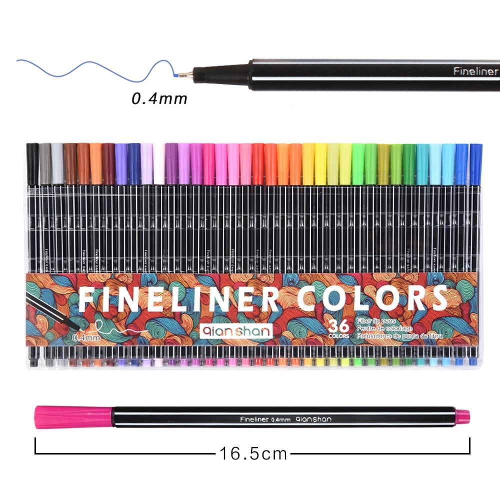 0.4mm Fineliner Pens 24/36 Colored Marker Pen School Stationery Water Based Ink Drawing Sketch For Kids Art Children Marker Pens web based school management system