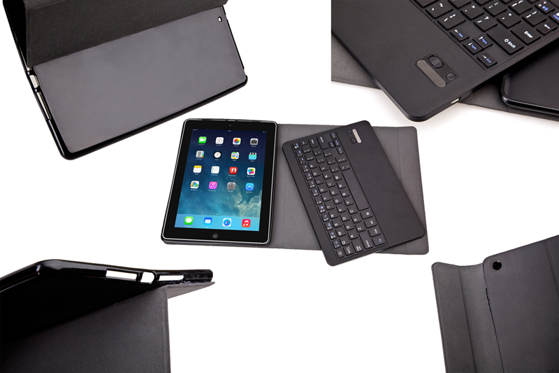 Ultra Slim Custer Russian Detachable Wireless Bluetooth Keyboard & Leather Cover Case For Apple ipad air & ipad 5 9.7inch Tablet ultra slim detachable wireless bluetooth keyboard pu leather case cover for ipad air 2 ipad air new ipad 2017 9 7 inch