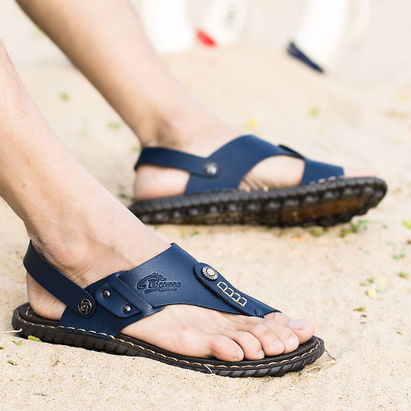 New men's ultrafilter leather sandals for summer 2019 are breathable, outdoor hiking non-slip sandals for men for comfort and fa(China)
