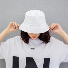 2019 New Bucket Hats Women Fisherman Hat Unisex Men Cotton Street Hip Hop Fishing Cap Sun Trunk