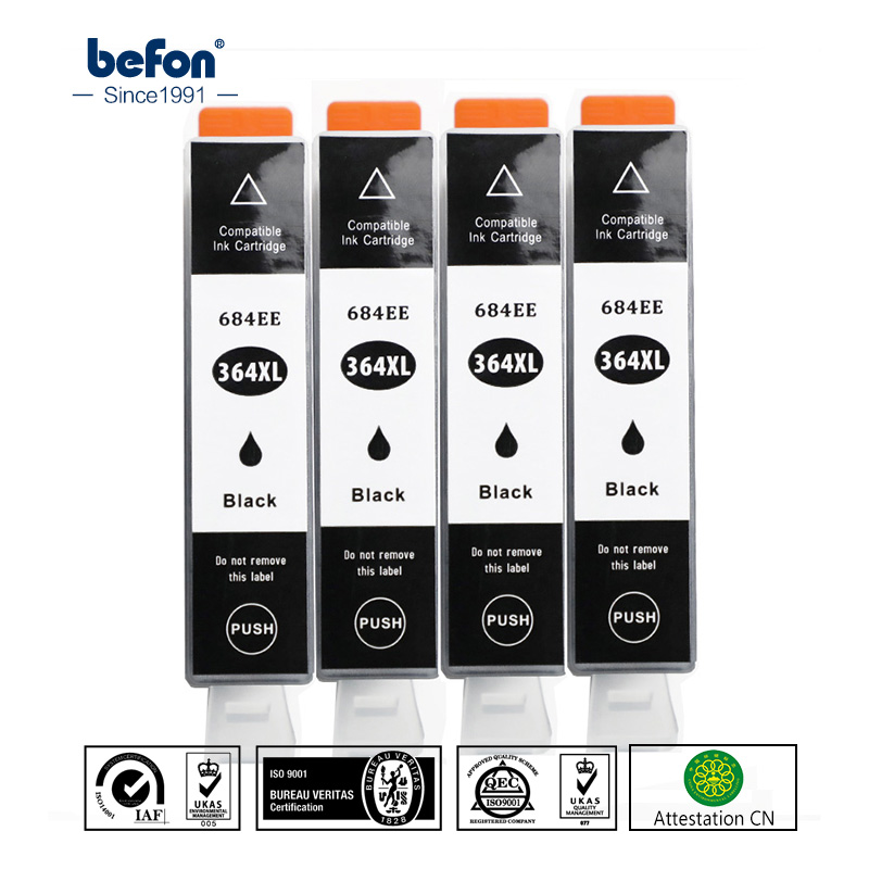 befon X4 Compatible 364 Cartridge Replacement for HP 364 HP364 684EE 684 Black Ink Cartridge for Deskjet 3070A 5510 6510 Printerbefon X4 Compatible 364 Cartridge Replacement for HP 364 HP364 684EE 684 Black Ink Cartridge for Deskjet 3070A 5510 6510 Printer