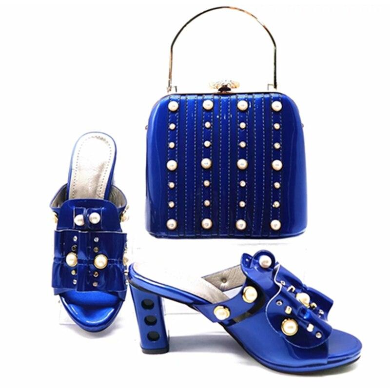 vin Les Pour Assortis De blanc Bleu Le Avec Chaussures Femmes fuchsia Italie Sacs Mariage Nigérian Qualité Haute Rouge or Italiennes URqgPEw