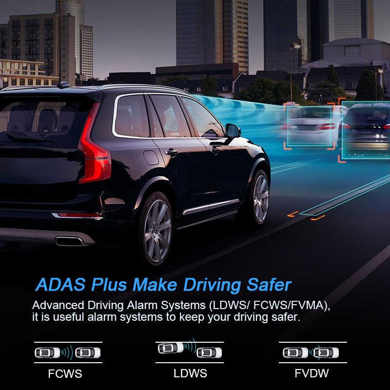 Anstar 10 ''4G Kaca Spion Mobil DVR 1080P Rekaman Video Dash Cam Dual Lensa Adas Gps Navigasi auto Pencatat Kamera