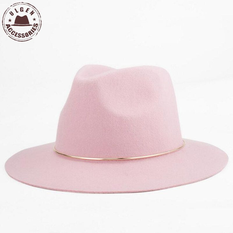 Yeni Moda qadınları fedora şapka açıq rəngli qadınlar üçün - Geyim aksesuarları - Fotoqrafiya 2