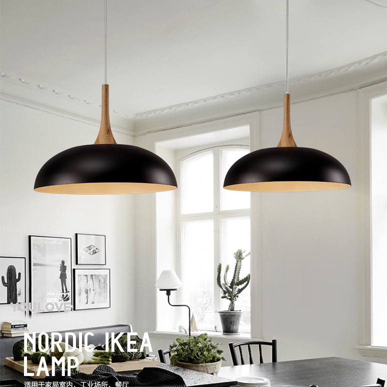 American Round Pot Cover Droplights Nordic White/Black Pendant Lights Fixture Home Indoor Dining Room Restaurant Cafes Lighting aluminium modern hanging lamps nordic white black pendant lights fixture home indoor lighting dining room restaurant droplights