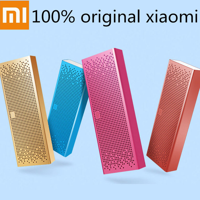 O apoio TF cartão 100% Original Xiaomi Micro-SD Aux-in Stereo Handsfree Speaker Bolso 1500 mAh 3.8 V Bluetooth Speaker com Mic