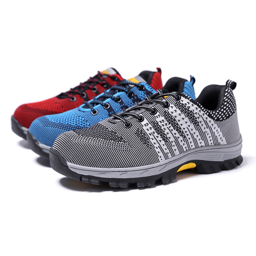 Men's Boots Work & Safety Boots Air Mesh Working Shoes Men Safety Shoes Steel Toe Cap For Men Puncture Proof Durable Breathable Protective Footwear Work Shoes Consumers First