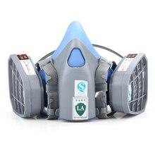 Haute Qualité filtre à charbon masque Silicone multifonction respirateur masque à gaz de pulvérisation de peinture pesticides de sécurité industrielle protéger masque
