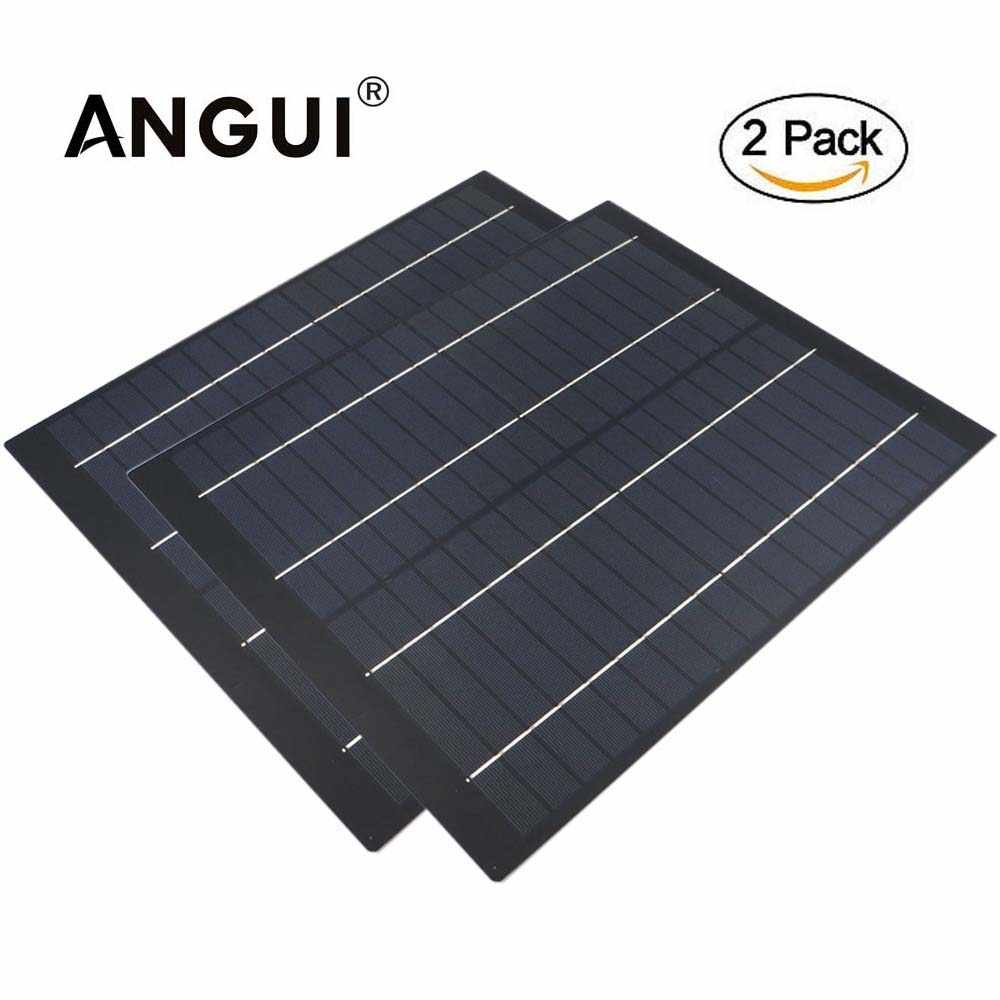 2pcs x polycrystalline cell 50 40 30 20 10 5 W Watt 18V Solar Panel PET cell charge for 12V battery Charger 5 10 20 watts W Watt