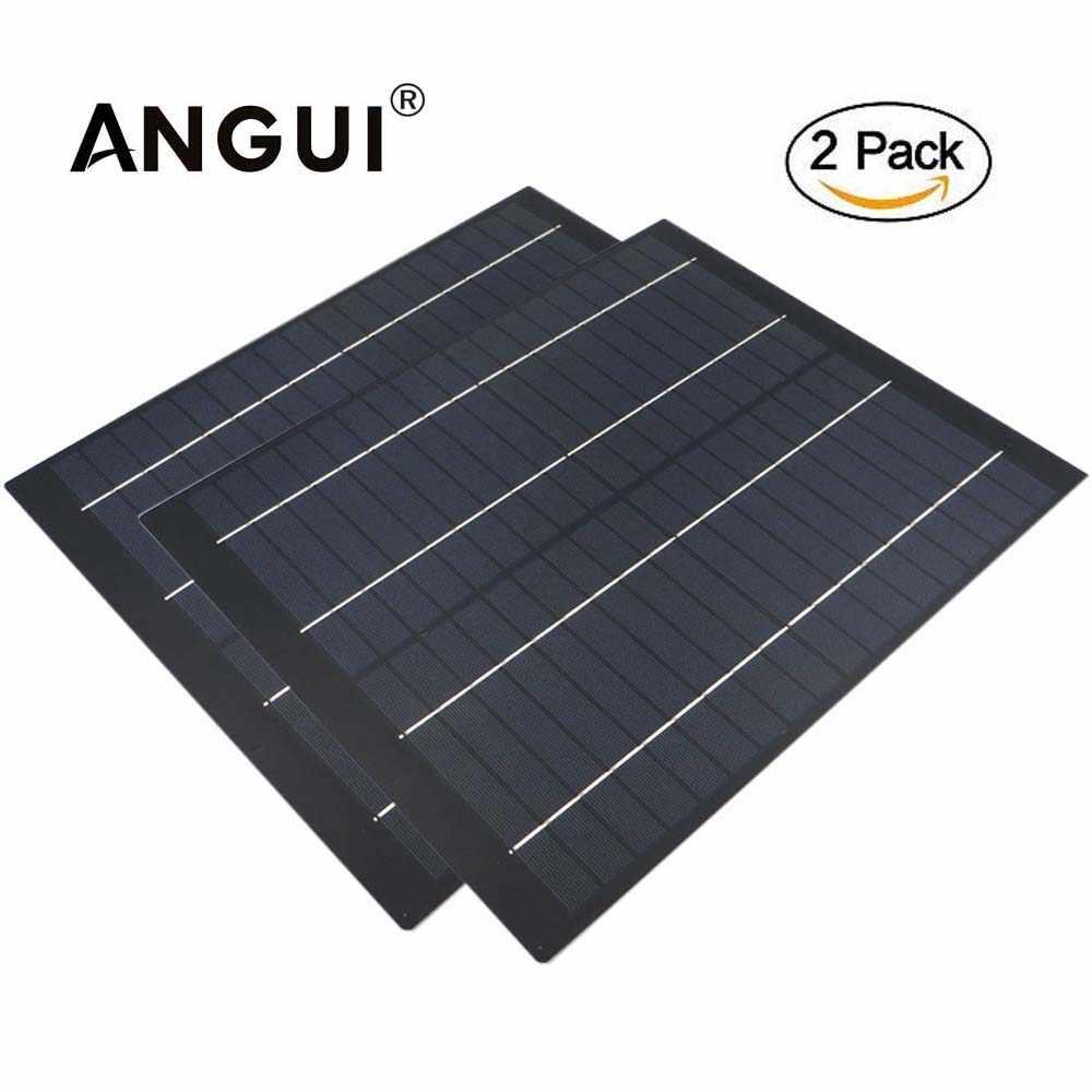 2 قطعة x خلية الكريستالات 50 40 30 20 10 5 W واط 18 V لوحة طاقة شمسية الحيوانات الأليفة الخليوي تهمة ل 12 V شاحن بطارية 5 10 20 واط W واط