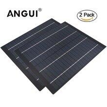 2pcs x 다결정 셀 50 40 30 20 10 5 W 와트 18V 태양 전지 패널 12V 배터리 충전기 용 PET 셀 충전 5 10 20 와트 와트
