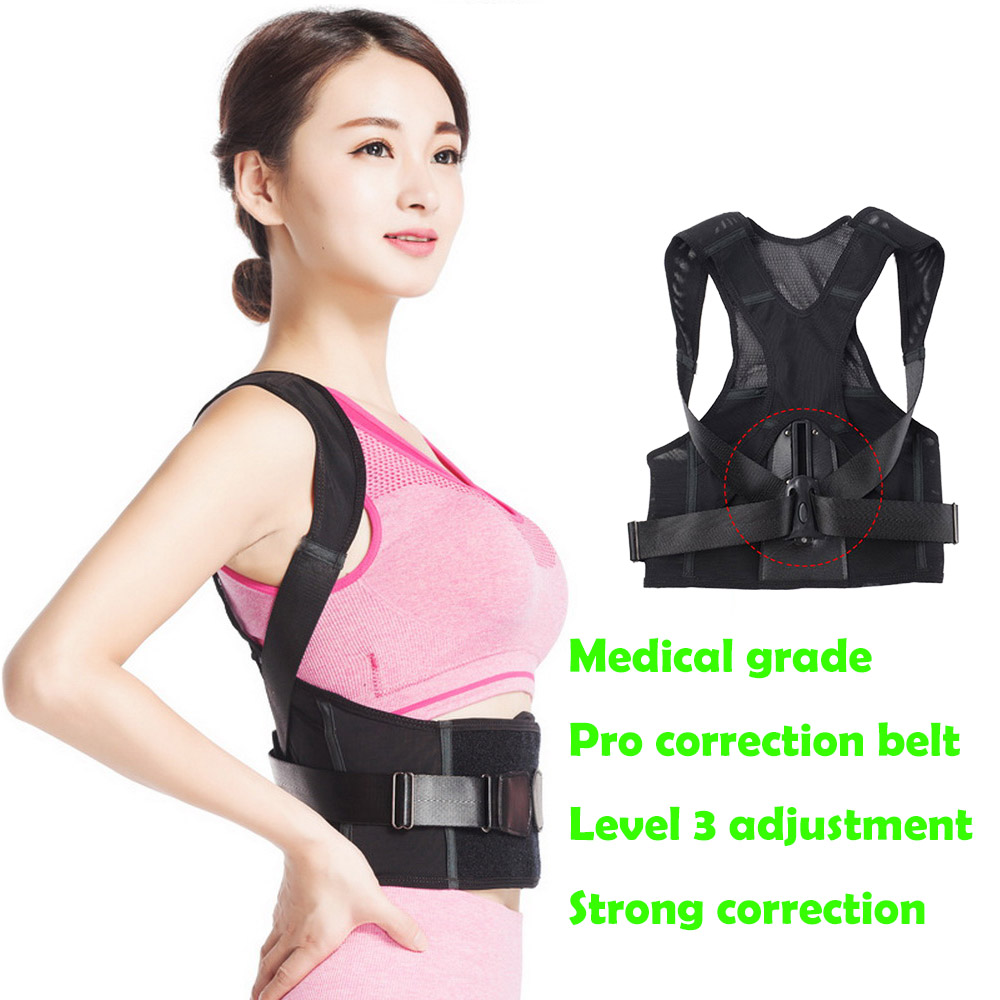 Micsunly Pro Medical Back Posture Corrector Belt/ Corrector De Postura Hombre Back Support Body Correction Belt Unisex Can Be Repeatedly Remolded. Health Care Beauty & Health