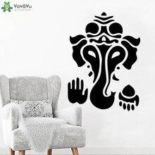 Bohemian Elephant Wall Decal Indian God Ganesha Vinyl Sticker Livingroom Hinduism Home Decor Hindu Art Mural DIYSY435