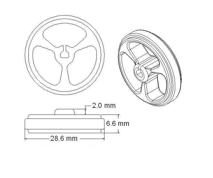 D-gat Rubber Wiel Geschikt voor N20 Motor D As Tire Auto Robot DIY Speelgoed Onderdelen