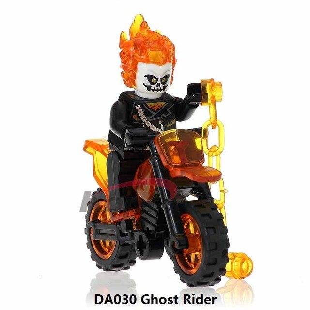 Única Venda WM298 Ghost Rider Com Motocicleta indo Marvel Avengers Figuras de Super Heróis Blocos de Construção de Brinquedos para Crianças 171