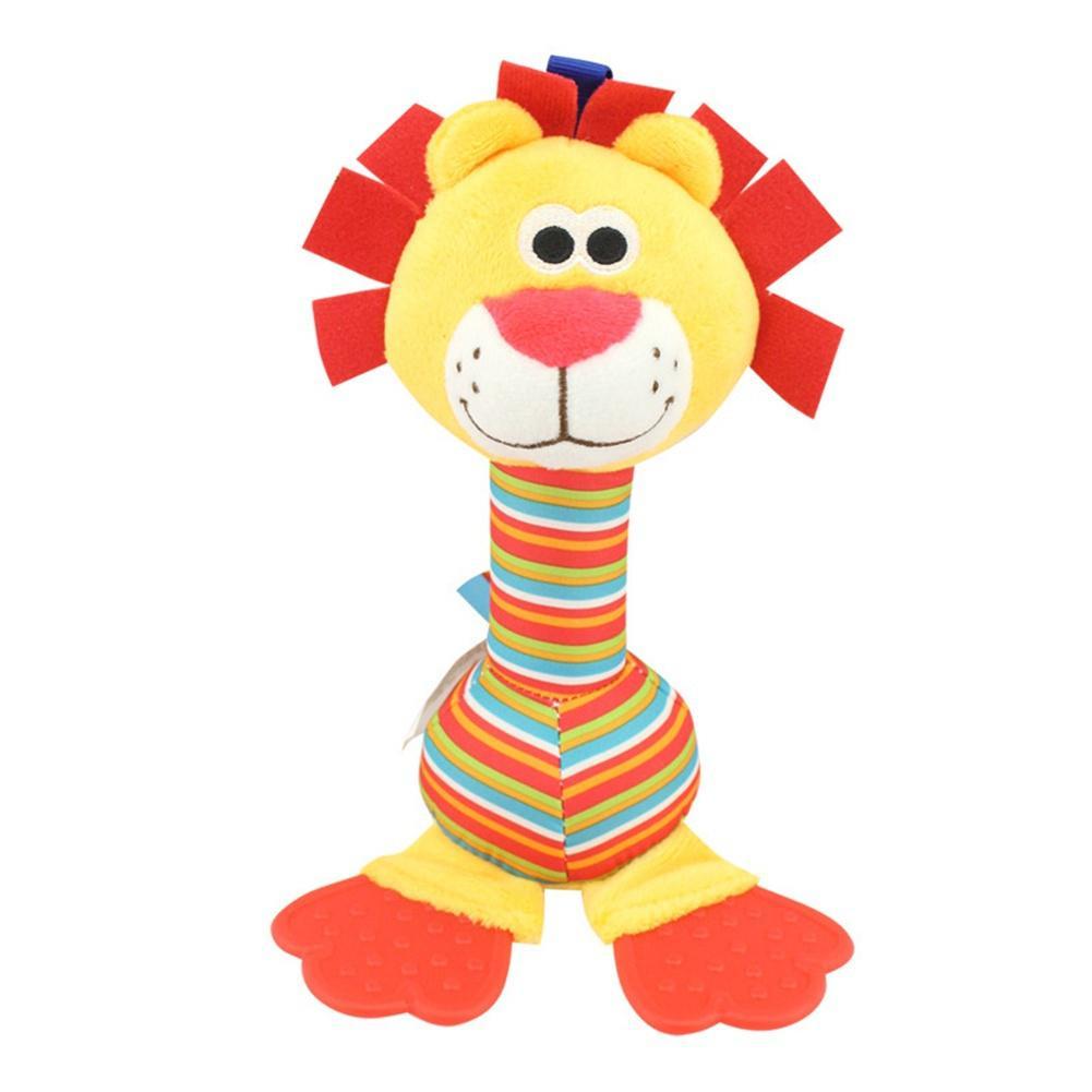 Baby Soft Animal Rattles Bed Crib Stroller Music Hanging Bell Gutta Percha Plush Doll Stuffed Toys Hanging Rattles Plush Toy