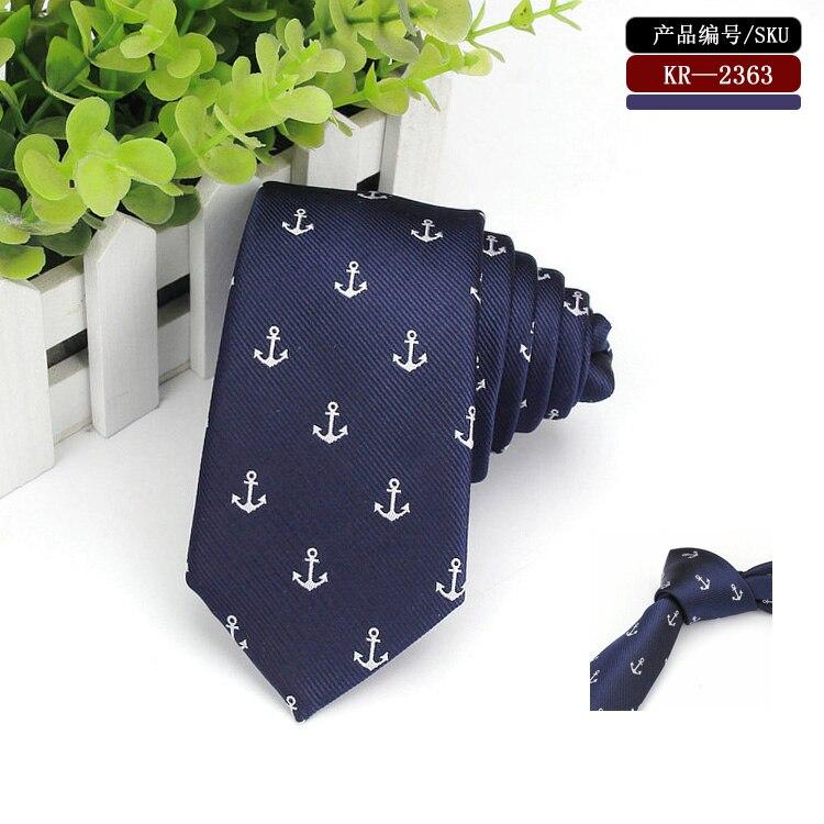 Blue-anchor-skinny-tie