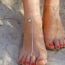 Trendy Ankle Sexy Heart Shaped Love Bracelet Women Fashion Crystal Foot Chain Anklets Jewelry K053