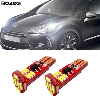 2x T10 W5W LED 4014 SMD Canbus Clearance Lamp Wedge Light For Citroen C4 C5 C3 Grand Picasso Berlingo Xsara Saxo C1 C2 ds3 image
