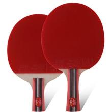 Original double poisson 4stars 4A raquettes de tennis de table raquette bat sport lame de bois boucle d'attaque rapide pour les amateurs de divertir les joueurs