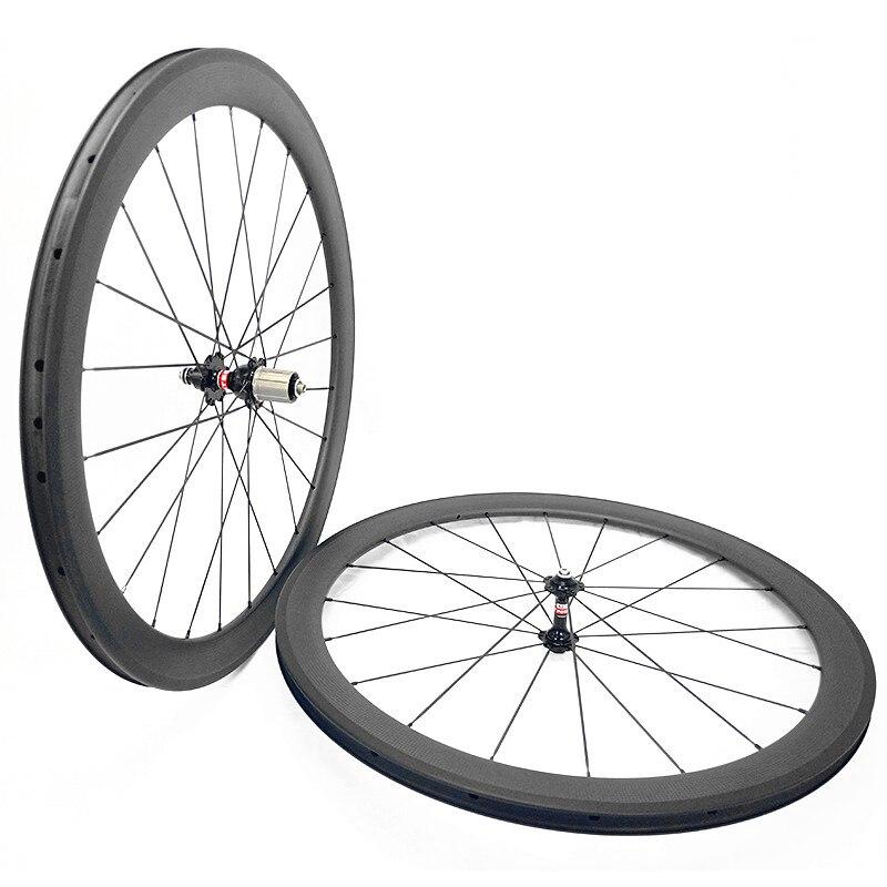 700c road carbon wheels 50mm clincher width 23mm NOVATEC 271 372 hubs carbon road bike 3K