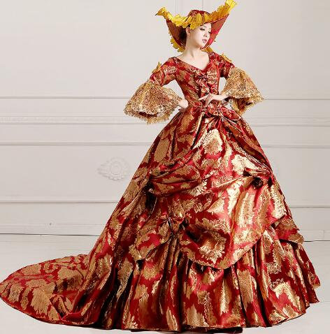 ed75c299e96c Ladies Medieval Renaissance Victorian Dresses Masquerade Costumes Queen  Ball Gowns For Ladies