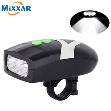 ZK20 3 LED Bike Light Bicycle Light Waterproof White Front Head Light Cycling Lamp & Electronic Bell Horn Hooter Siren
