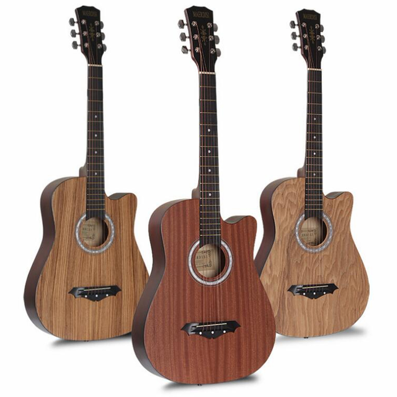Top Quality 38 Inch Acoustic Guitar Beginner Practice Guitar folk guitar 6 string music instrument Creative Christmas gift AGT17