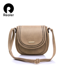 REALER women messenger bags artificial leather shoulder cros