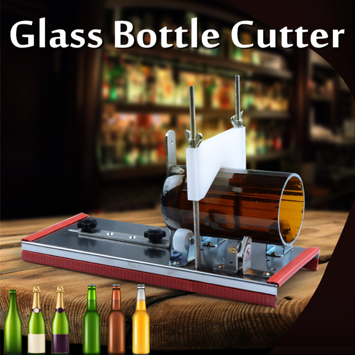 DIY Recycle Cutting Tool Kit Glass Bottle Cutter 2-10mm Beer Wine Jar Accurate Cutting Machine Stainless Steel Smoothly Cutting diy carbon steel oval frame cutting dies