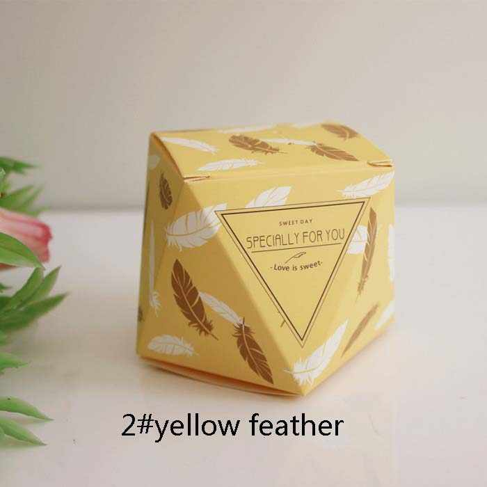 candy box bag chocolate paper gift package for Birthday Wedding Party favor Decor supplies DIY precious stone design Wh