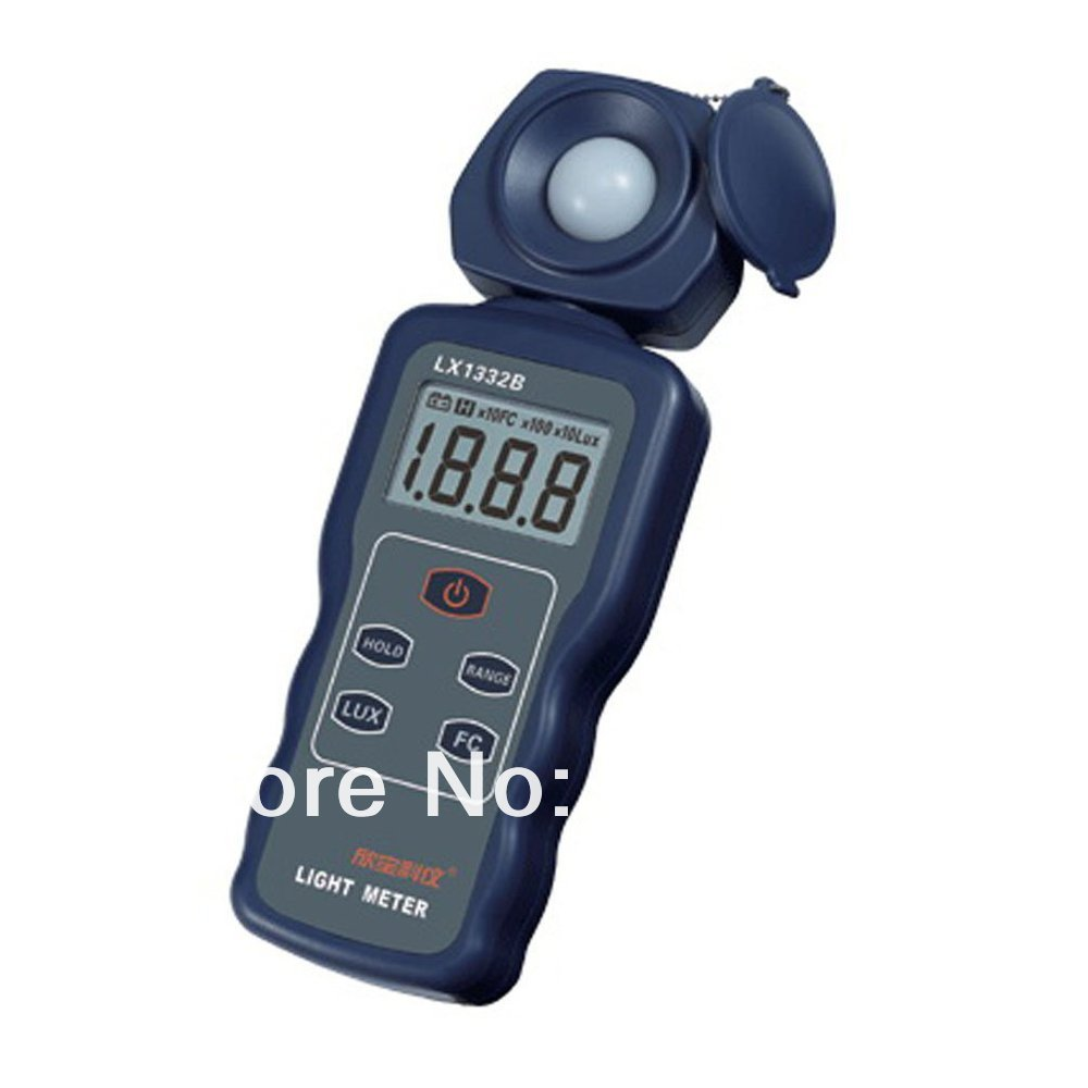 LX1332B Pocket Handheld Digital 200000  Lux/Light Meter   Photometer Reading Locked Function with High Precision new professional lx1010bs digital light meter 100000 handheld lux meter