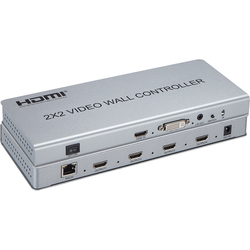 Видеостена контроллер 2x2 видеостена Процессор Поддержка DVI или HDMI вход в 4X HDMI выход с аудио и RS232 управления