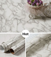 New Arrival 32 X50 Grey Color Marble Contact Paper Wallpaper Self Adhesive Peel Stick Wall