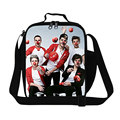 Popular One Direction pattern cool boys lunch bag for school,fashion girls food bag,mens 1D work lunch container,womens meal bag