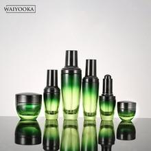 ファッション緑のグラデーション詰め替え化粧ボトル瓶ドレッシングテーブルオーガナイザースキンケア収納ツール Bb クリーム