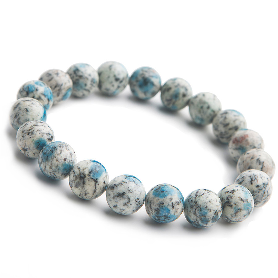 Natural K2 Blue Volcanic Blue Gemstone Bracelet For Women Lady Stretch 11mm Crystal Round Beads Bracelet AAAANatural K2 Blue Volcanic Blue Gemstone Bracelet For Women Lady Stretch 11mm Crystal Round Beads Bracelet AAAA