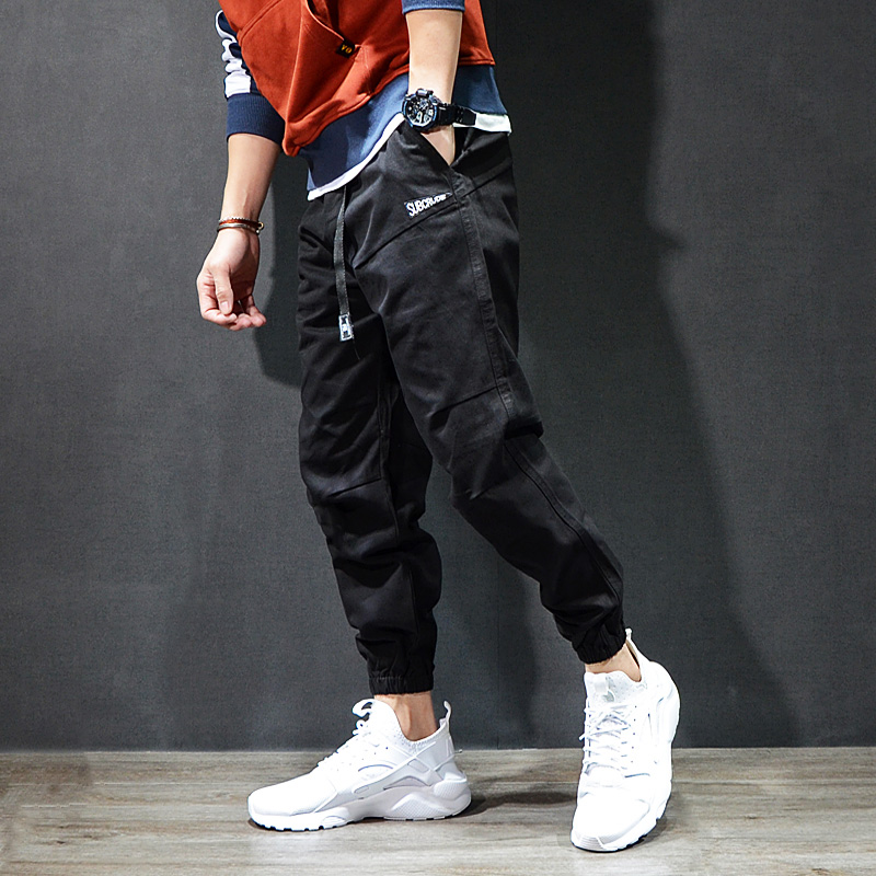 Fashion Streetwear Men's Jeans Casual Leisure Jogger Pants Black Khaki Vintage Classical Cargo Pants Men Hip Hop Jeans Homme