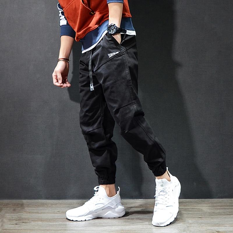 Fashion Streetwear Men's Jeans Casual Leisure Jogger Pants Black Khaki Vintage Classical Cargo Pants Men Hip Hop Jeans Homme